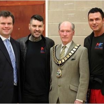 Matt Fiddes Shane Lynch in Torquay