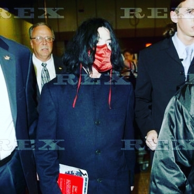 Matt Fiddes arriving at Heathrow airport with Michael Jackson