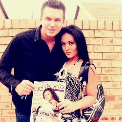 Matt Fiddes front cover with Moniqe Fiddes martial arts