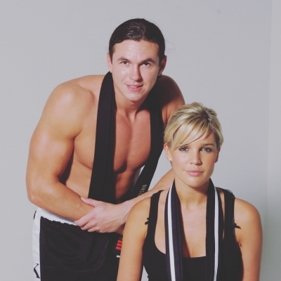 Matt Fiddes with Danielle lloyd