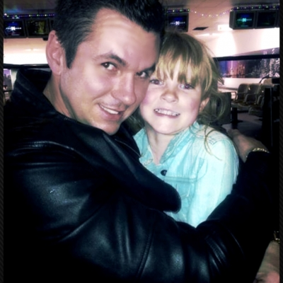 Matt Fiddes with Lola Fiddes