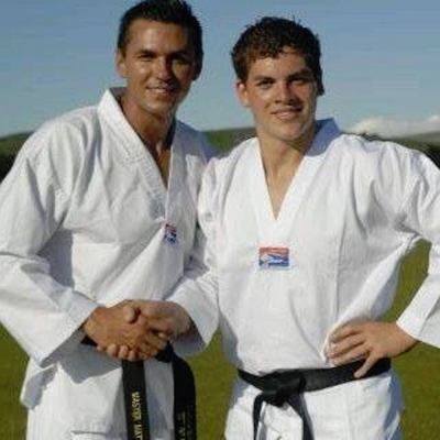 Matt Fiddes with Master Jules Moyce