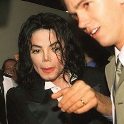 Matt Fiddes with Michael Jackson