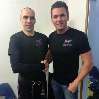 Matt Fiddes with Richard Kelly of Matt Fiddes Franchise Torquay