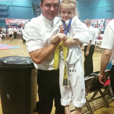 matt fiddes with a student
